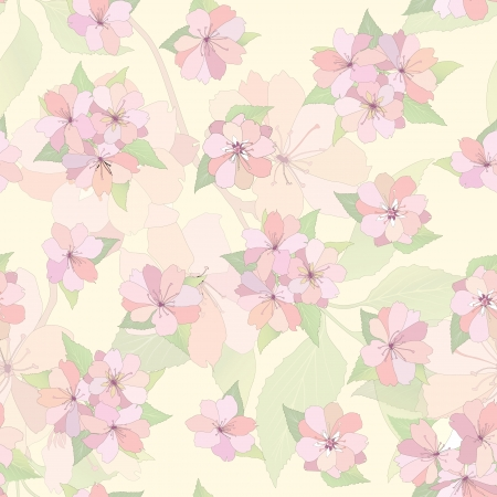 Flower seamless background  Spring floral pattern  Nature texture Stock Vector - 25545804