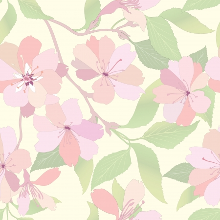 Flower seamless background  Spring floral pattern  Nature texture   Stock Vector - 25545809