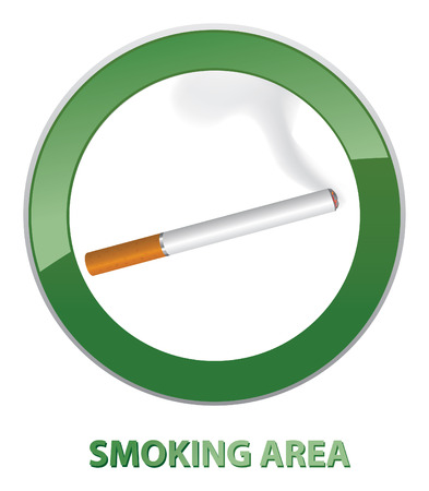 Smoking area label  Smoking Area Vector Sign   Vector