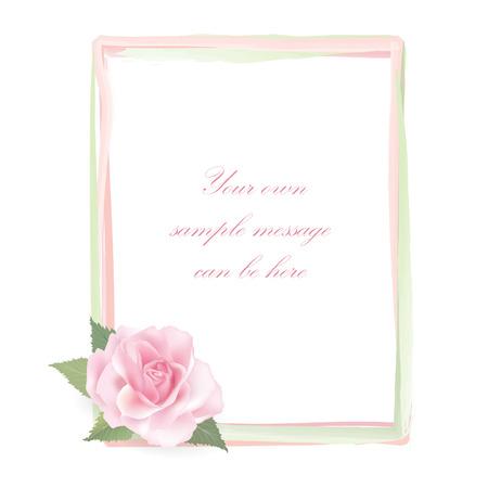 posy: Flower rose frame isolated on white background   Rose posy decor