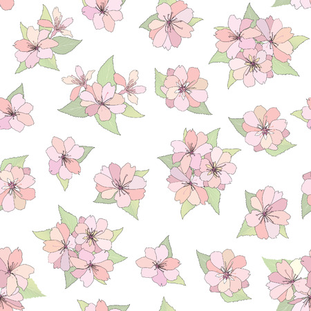 mammy: Flower seamless background  Spring floral pattern  Nature texture   Illustration