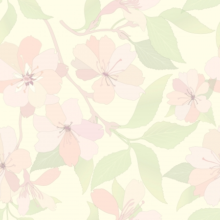 Flower seamless background  Spring floral pattern  Nature texture   Illustration