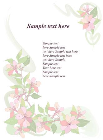 Flower background  Spring floral wallpaper  Nature decor  Stock Vector - 25546082