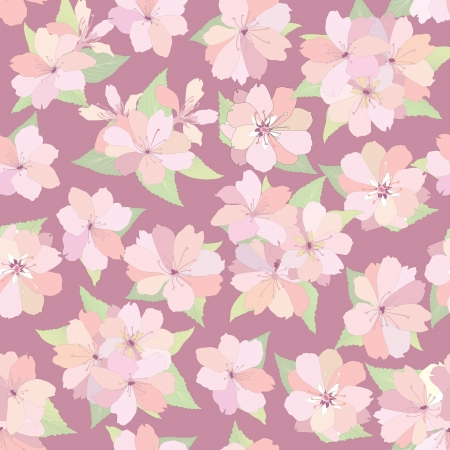 Flower seamless background  Spring floral pattern  Nature texture   Vector