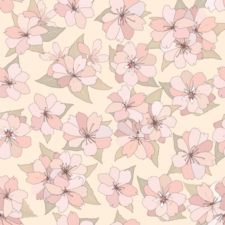 Flower seamless background  Spring floral pattern  Nature texture Stock Vector - 25546085