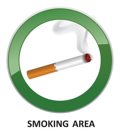 smoking place: Smoking area label  Smoking Area Vector Sign   Illustration