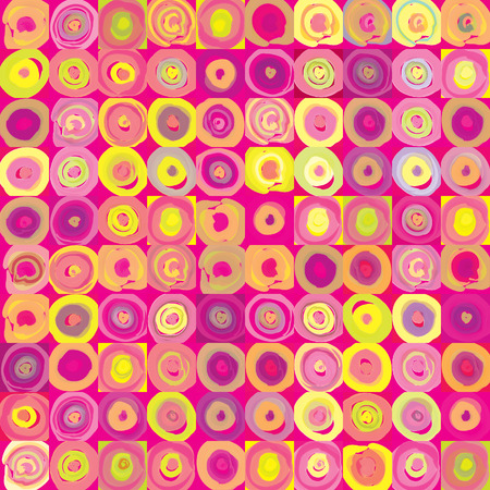 60s fashion: Abstract background  Vintage seamless geometric pattern  Pop art texture   Illustration
