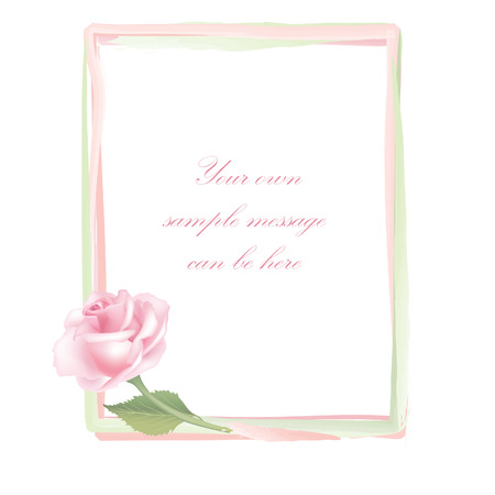 Floral frame  Flower rose vector spring background   Vector