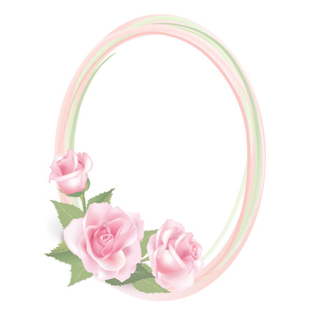 Floral frame  Flower rose vector spring background