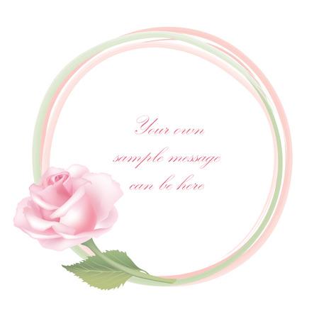 rose frame: Flower rose background  Floral frame with pink roses