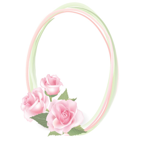 posy: Flower frame  Floral decor with flower rose posy