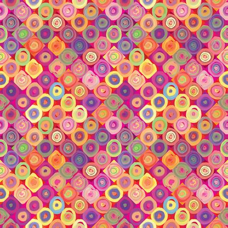 texture fantasy: Abstract background  Vintage seamless geometric pattern  Pop art texture   Illustration