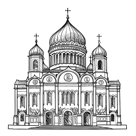 Рисунок храма христа спасителя