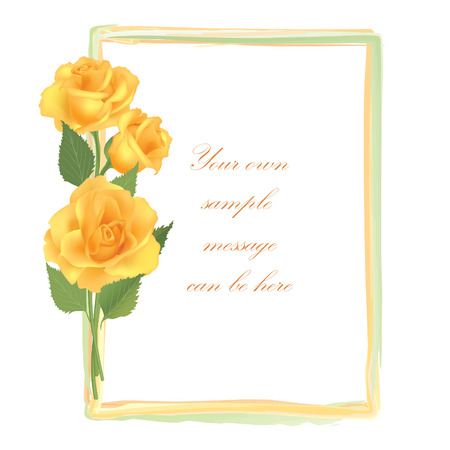 macro leaf: Flower Rose frame isolated on white background. Floral vector wallpaper.