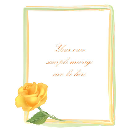 macro leaf: Flower Rose frame isolated on white background  Floral vector wallpaper
