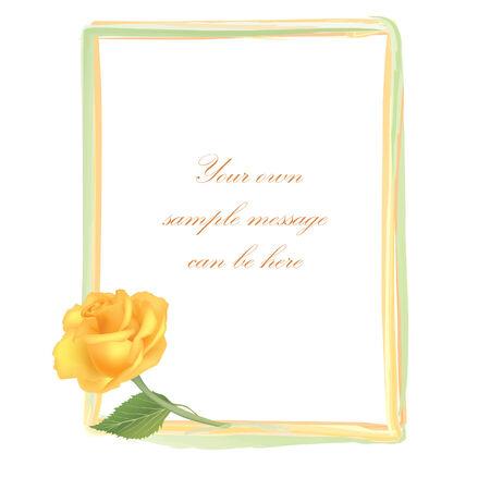 flower rose: Flower Rose frame isolated on white background  Floral vector wallpaper