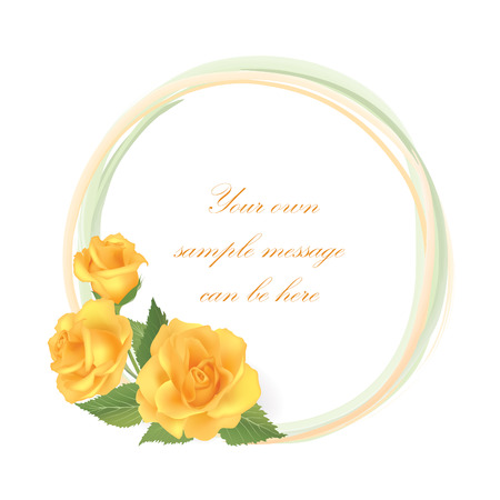 Flower rose frame.  Floral background  Vector
