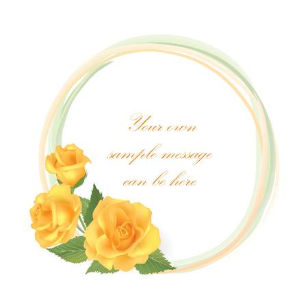 flower rose: Flower rose frame.  Floral background
