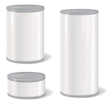 Metal Tin Can. Verpakking van het product