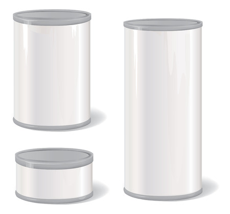 Metal Tin Can. Product Packing  Illustration