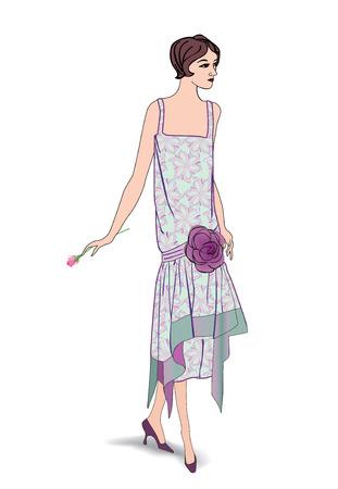 mode retro: Flapper meisjes (30's 20's stijl): Retro fashion party