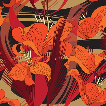 seamless texture: Floral nahtlosen Hintergrund. Dekorative Blumenmuster. Floral nahtlose Textur mit Blumen.