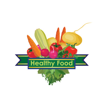 Healthy food sign Vector