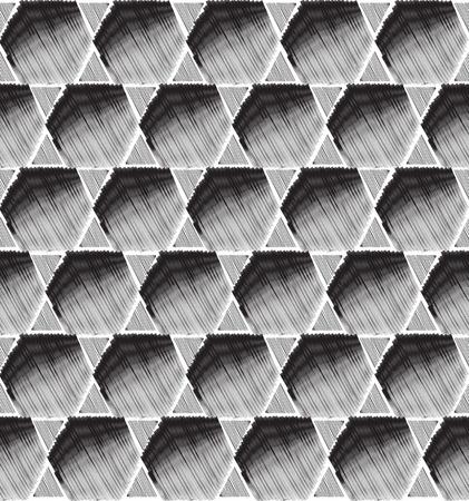 arabic motif: Abstract geometric ornament. Hand drawn seamless pattern. Illustration