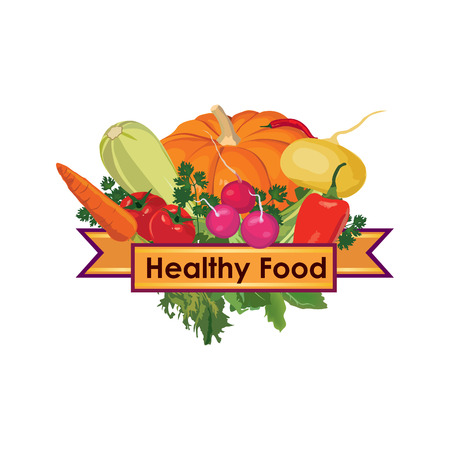 Healthy food sign Vector
