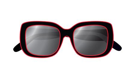 rimmed: Gafas de sol aislados sobre un fondo blanco Vectores
