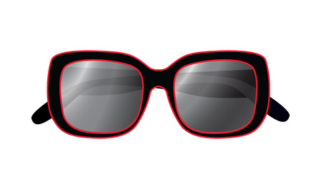 Sunglasses isolated against a white background Vector