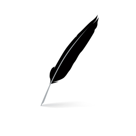 feather quill: Feather pen icon Illustration