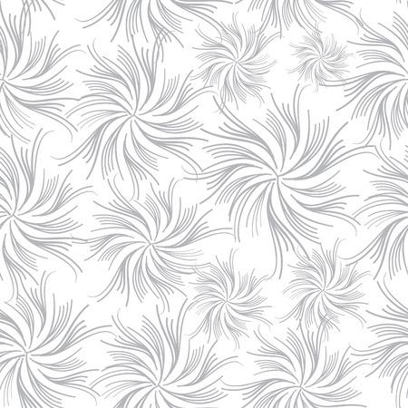 Flowers seamless wave background Illustration