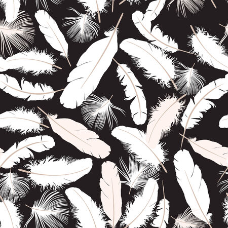 Feather seamless pattern Illustration