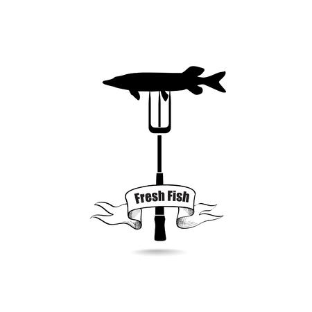 sea food: Sea Food Icon. Fresh fish menu label. Seafood banner.
