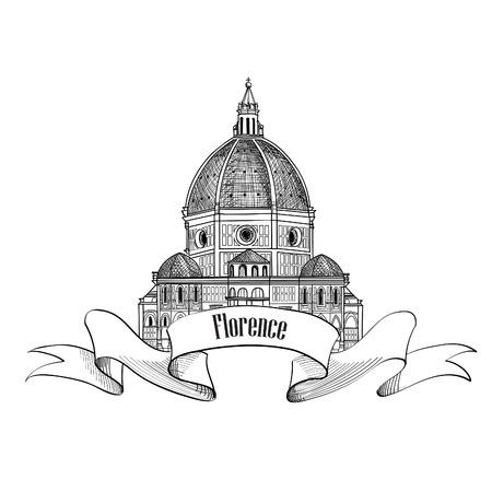 Cathedral Santa Maria del Fiore  Vector