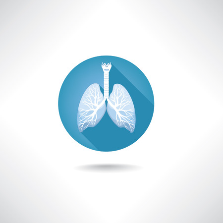 clean artery: Lungs and bronchi icon. Human anatomy web buttons set.