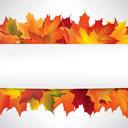Autumn frame with leaves. Fall background with copy space. Illustration