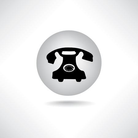 old phone: Old phone icon. Retro communiacion symbol.
