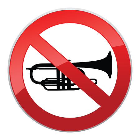 quiet: No sound sign. Vector Keep Quiet symbol.