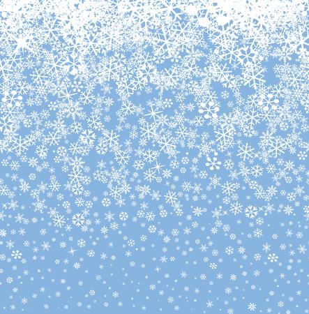 Snow background. Snowflakes seamless pattern. Winter snowy seamless wallpaper.
