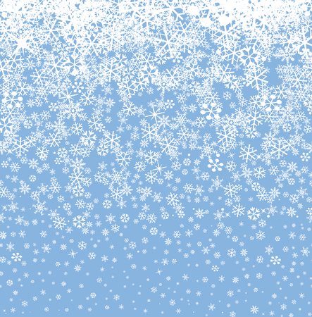 snow fall: Snow background. Snowflakes seamless pattern. Winter snowy seamless wallpaper.