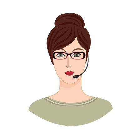 profile picture: Avatar Icon. Female social profile. Avatar people vector set. Business woman