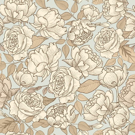 Floral seamless background. Decorative flower pattern. Floral seamless texture with flowers. 免版税图像 - 35274632