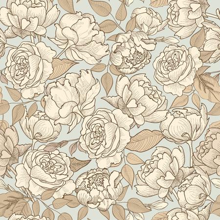 cổ điển: Nền liền mạch hoa. Mô hình hoa trang trí. Kết cấu liền mạch Floral với hoa.