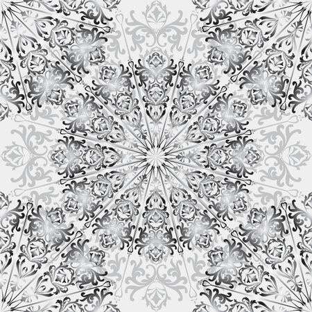 chinaware: Floral square pattern. Chinese porcelain painting style textured wallpaper. Watercolor flourish background.