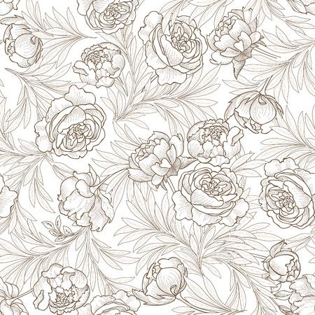 Floral seamless background.  Floirish pattern.