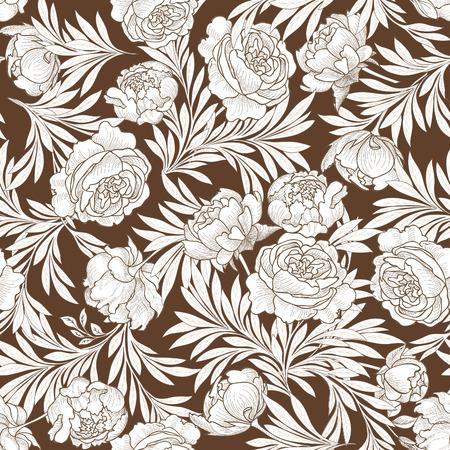 japanese motif: Floral seamless background. Flower pattern.