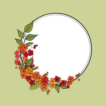 borde de flores: Marco de la flor. Frontera floral. Verano fondo de florecimiento.