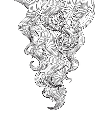 haircare: Hair background Illustration